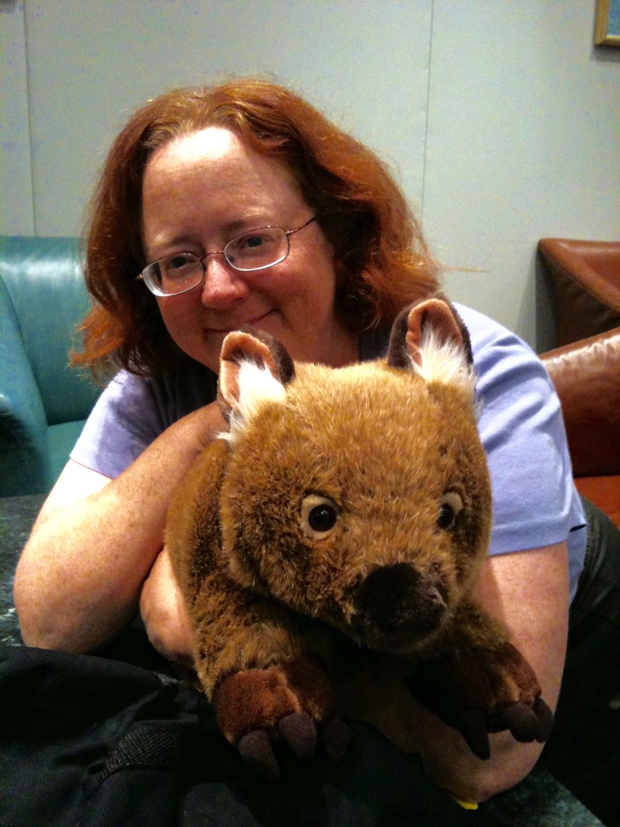 Kate with Wombat